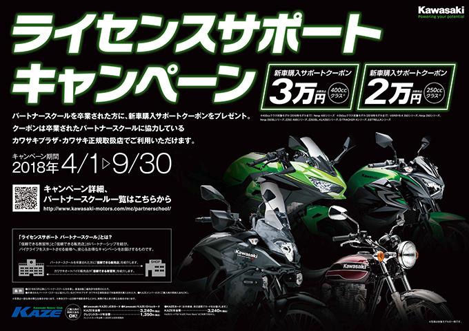 kawasakiライセンスサポートキャンペーン!!